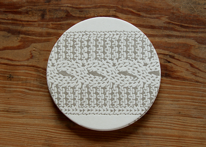 Cable Knit Round Coasters