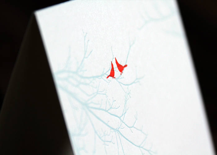 Red Birds Folded Cards