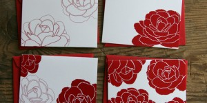 Red Camellias Folded Cards