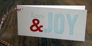 (Sold Out)Love and Joy Gift Cards