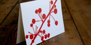 (SOLD OUT) Red Berries Stationery