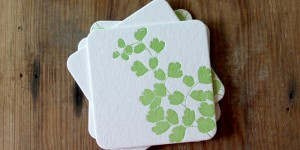 Maidenhair Fern: Letterpress Coasters
