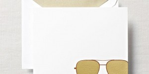 (SOLD OUT) Aviator Flat Notes & Lined Envelopes