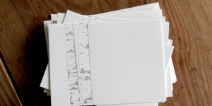 (SOLD OUT) Silver Birches: Letterpress Flat Cards