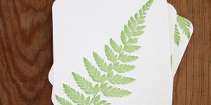 Woodland Fern: Letterpress Coasters
