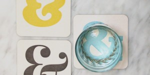Ampersand Coasters in Technicolor!