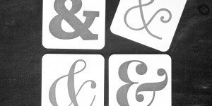 Ampersand Coasters in Black & White