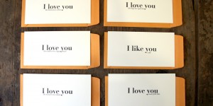 I love you like... : Letterpress Flat Cards & Envelopes (Set of 6)